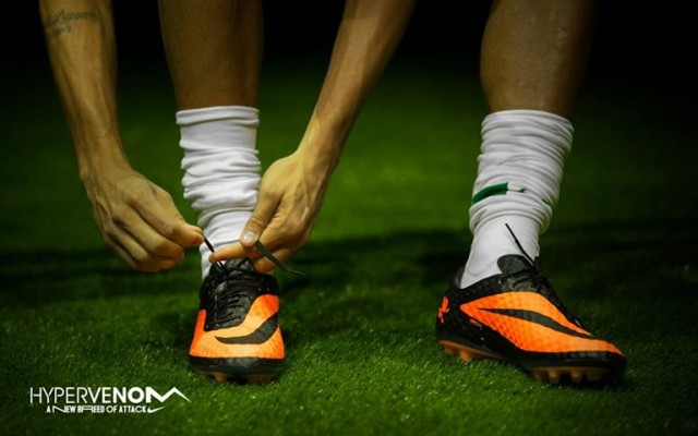 With HyperVenom a sensation of speed and acceleration arises. Neymar will be even more explosive with the Nike boots.