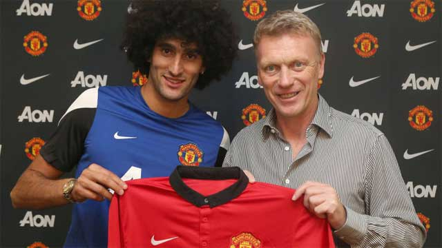 Fellaini with David Moyes