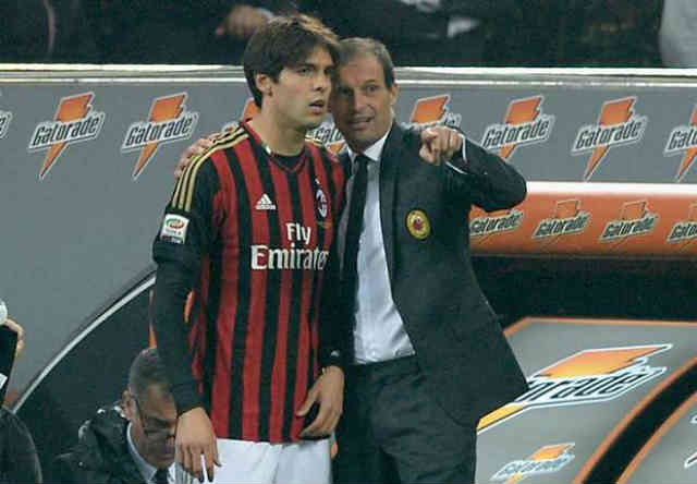 Allegri pleased with Kaka with performance at the Champions League against FC Barcelona