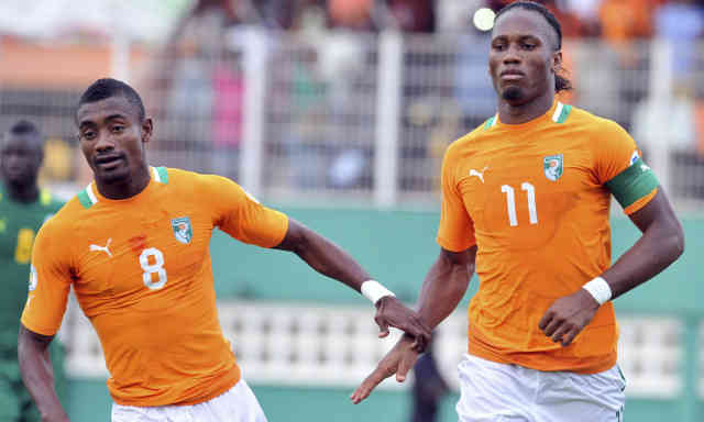 Drogba and Kalou both put Ivory Coast in a comfortable position for the World Cup