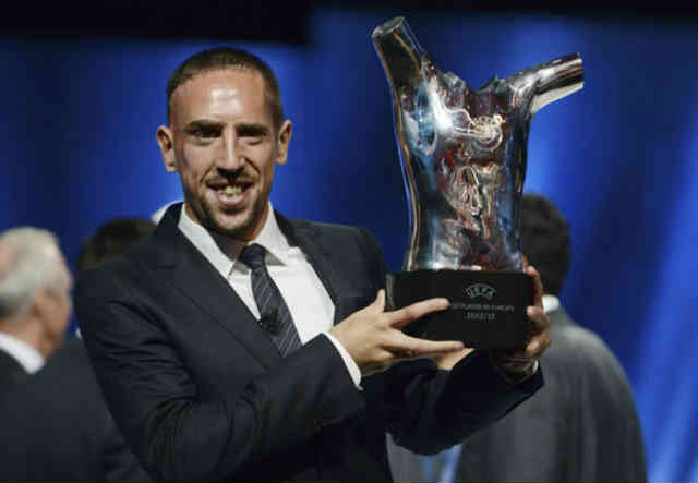 Franck Ribery who has won best player in Europe is believed to also win the Ballon d'Or