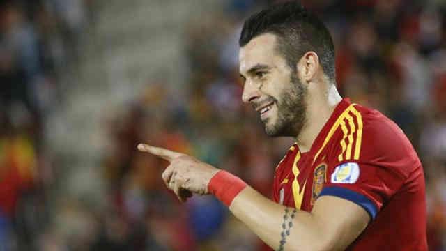 Negredo celebrates his goal`