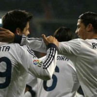 Ronaldo and Morata celebrate their smashing goal and save Madrid the win