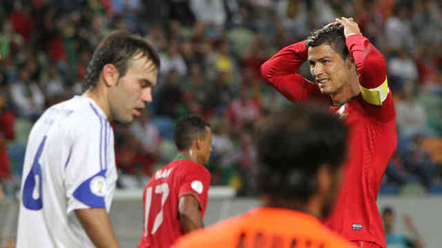 Ronaldo frustrated with the result that his team played