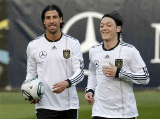 Sami Khedira and Mesut Ozil are close friends even though Ozil has left Real Madrid