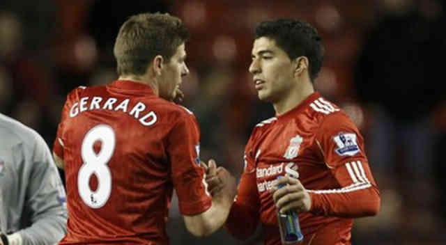 Steven Gerrard welcomes back Luis Suarez