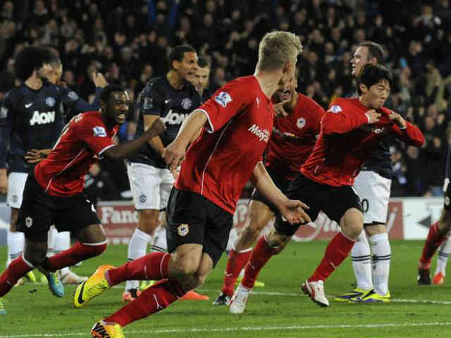 Cardiff City managed to draw and get a victory over Manchester United