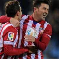 David Villa celebrates his smashing goals
