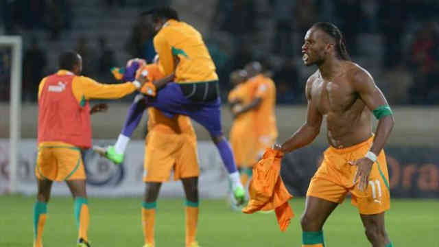 Ivory Coast celebrate their spot in the World Cup