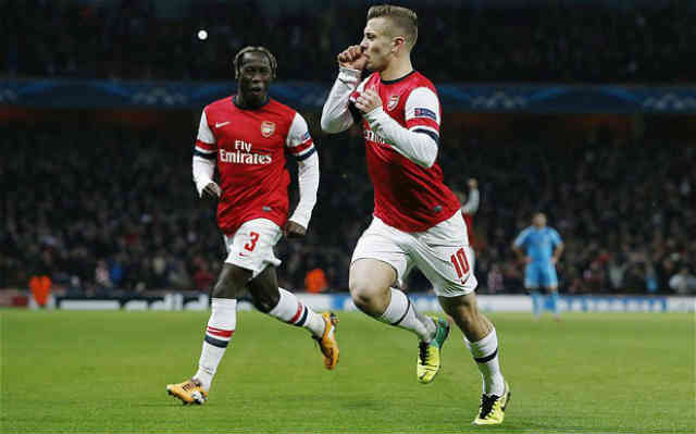 Jack Wilshere puts Arsenal in both halfs against Marseille in the Champions League