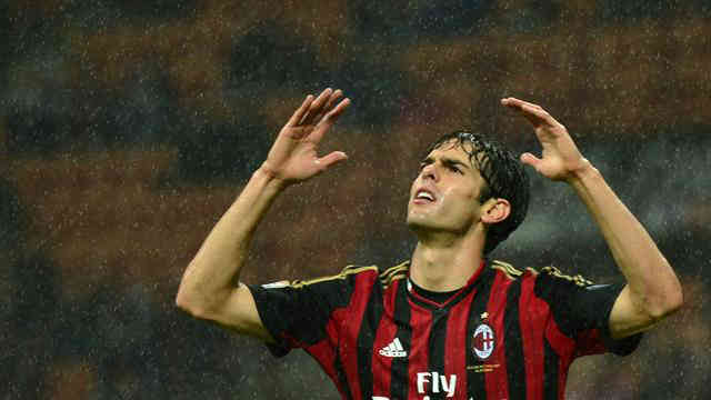 Kaka in distress with the play of AC Milan