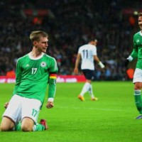 Mertesacker gets the goal for Germany