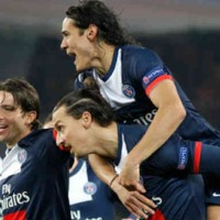 PSG celebrate their game in the Champions League