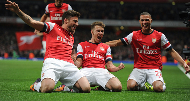 Ramsey once again scores again for the Gunners against Liverpool