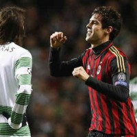 Ricardo Kaka was the man of the match for AC Milan in the Champions League match against Celtic