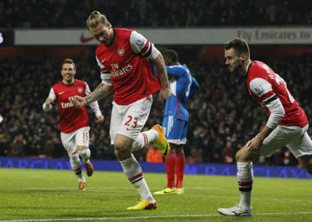 Bendtner would was in the Serie A brings a goal for the Gunners