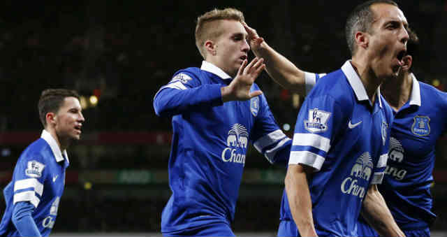 Deulofeu brings the point for Everton against the Gunners