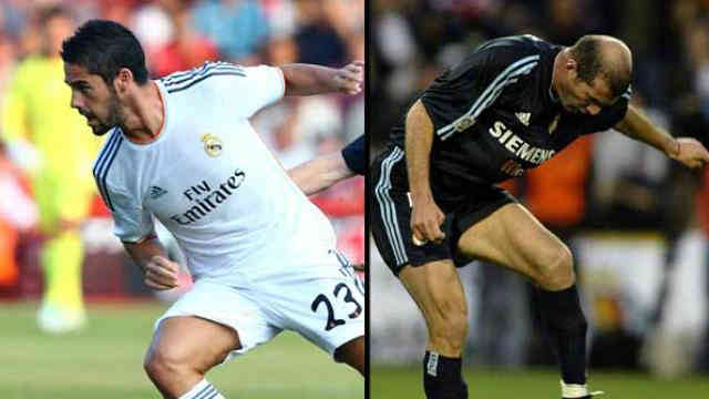 Isco has been compared by the legend Zidane by the Real Madrid coach