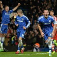 John Terry scores with a smashing header