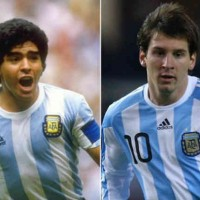 Maradona stands up for Lionel Messi!