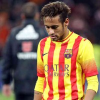Neymar disappointed with the score and lose for his team