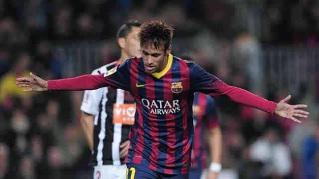 Neymar once again scores for his team Barcelona