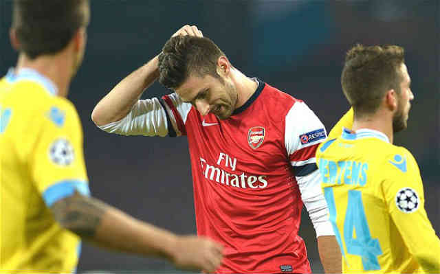 The Gunners go through but couldn't beat the Napoli