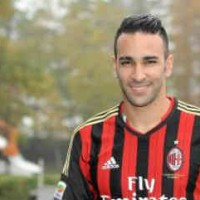 The debut of Adil Rami in AC Milan