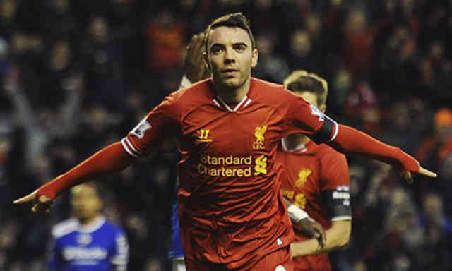 Aspas scores his first goal for Liverpool in the FA Cup