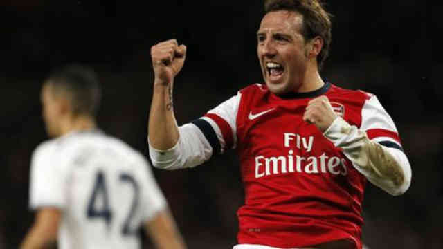 Carzola brings the opener for the Gunners against Spurs in the FA Cup play off