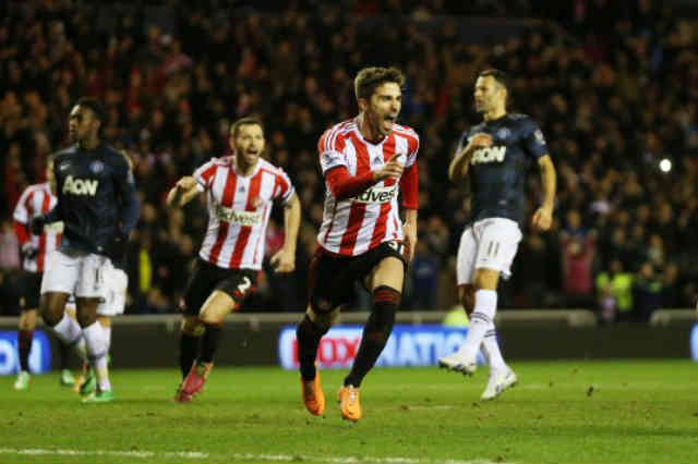 Sunderland managed to beat the Red Devils in the Capital One Cup