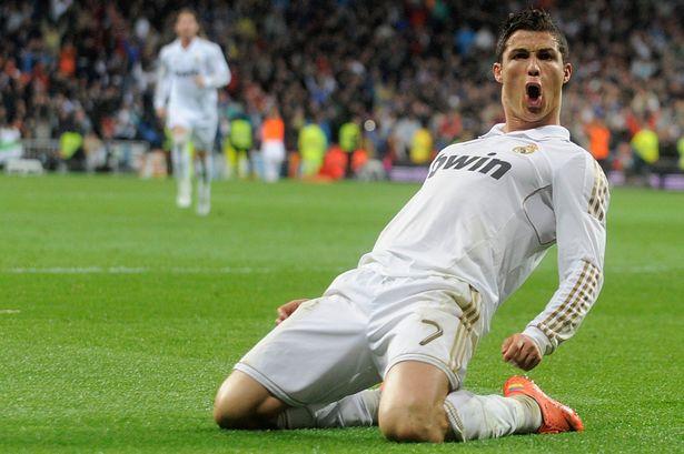 Cristiano Ronaldo celebrates another goal.