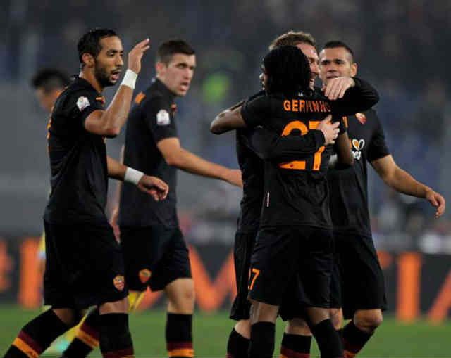 Gervinho wins the match for AS Roma in the Coppa Italia Semi