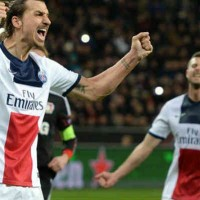 Ibrahimovic celebrates his goal and puts PSG ahead to the prize