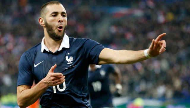 Karim Benzema gets a smashing goal for France