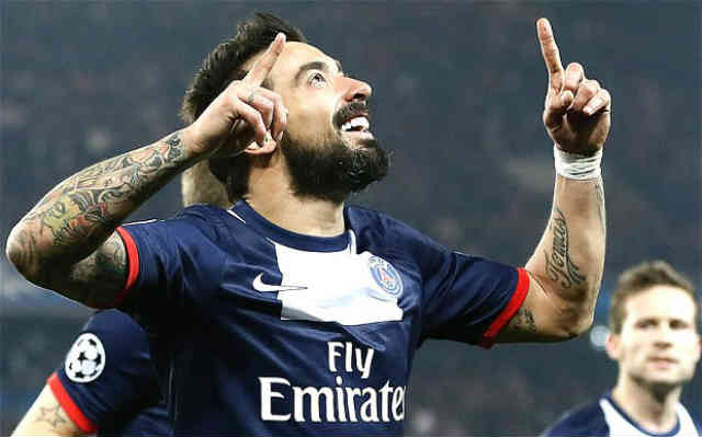 Lavezzi secures their spot in the quarter finals of the Champions League