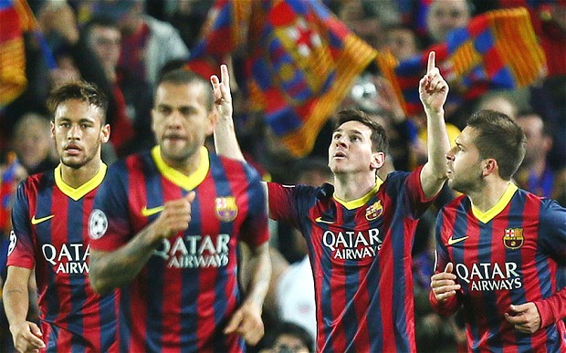 Messi secures his team to the Champions League quarter finals